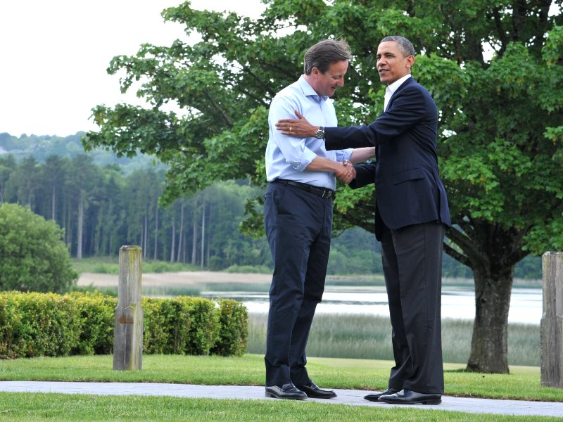 Barack Obama and David Cameron plotting the 'Bill of Corproate Rights' that is TTIP at the Lough Erne G8 summit in June 2013. Photo: President of the European Council via Flickr (CC BY-NC-ND).