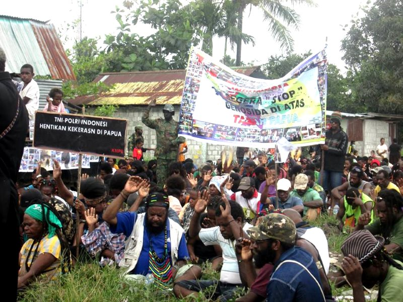 A demonstration of West Papuans against Indonesia's military occupation. Photo: Free West Papua campaign.