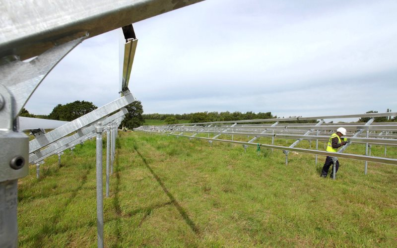 Construction will soon begin at the Fylde solar farm in Lancashire. Toyota Solar Array under construction at Burnaston, UK. Photo: Toyota UK via Flickr (CC BY-NC-ND).