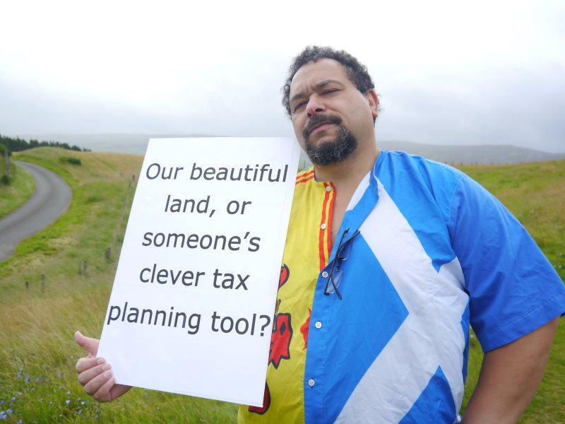 Scottish Comedian Bruce Fummey joins the #OurLand photoshoot. Photo: ourland.scot/ .