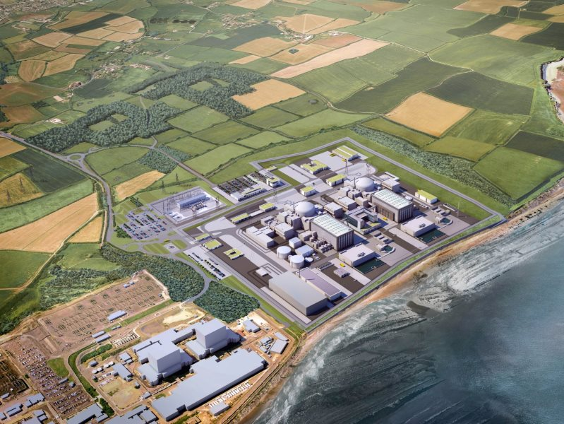Artists impression of the finished Hinkley C reactor. Image: EDF.