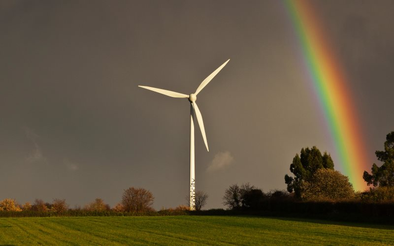 An Ecotricity wind turbine in Swaffham, Norfolk. Photo: Nick Ford via Flickr (CC BY-NC-ND).