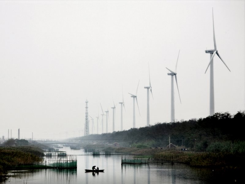 Xioa Yan Kou Farm, China. Photo: Danish Wind Industry Association / Vindmølleindustrien via Flickr (CC BY-NC).