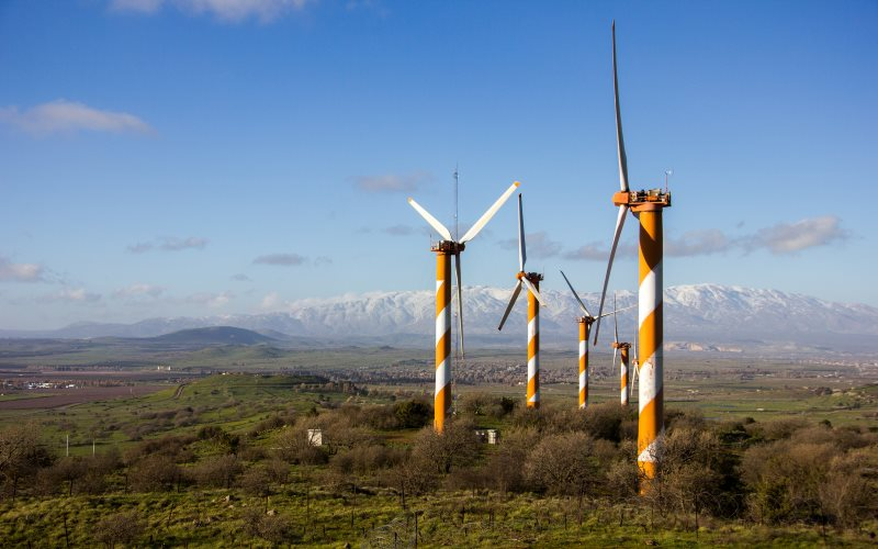 Israel's exploitation of wind energy in the occupied Golan Heights is legal under international law because it does not deplete the territory's natural capital. But oil drilliing would violate that principle. Photo: Yuval Shoshan via Flickr (CC BY-NC-SA).