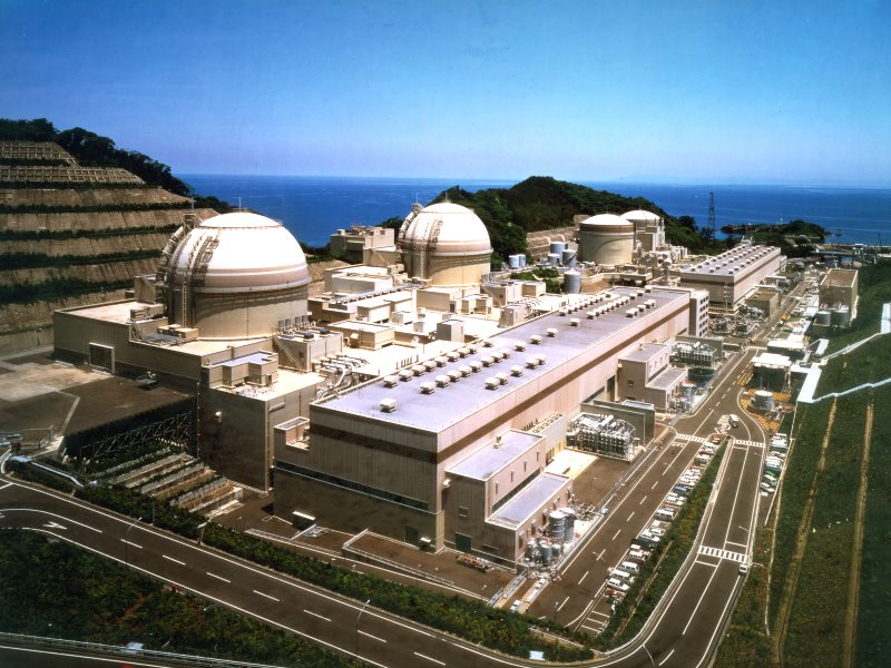 Nuclear power plant at Ohi, Japan. It may be gleaming and impressive looking, but the plant stands near several active seismic faults and lacks adequate protection against earthquakes. Photo: Kansai Electric Power Co. via IAEA Imagebank on Flickr (CC BY-S