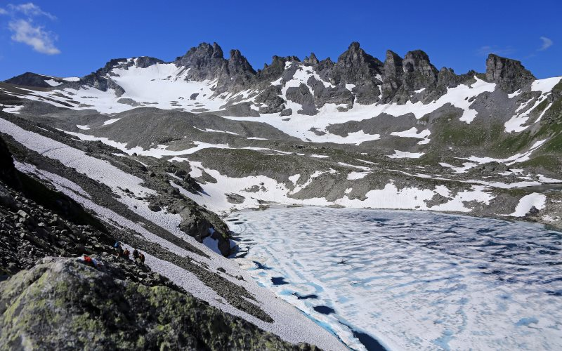 Pizol Glacier and summit in the Swiss Alps, July 2013. Photo: HD Zimmermann via Flickr (CC BY-NC-SA).