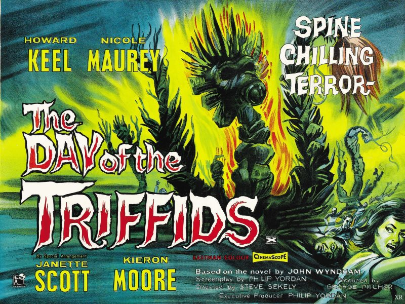 1962 poster for 'Day of the Triffids'. Photo: James Vaughan via Flickr (CC BY-NC-SA).