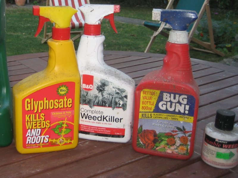 Glyphosate, the 'probable carcinogen' in your shed. But wil the EU re-licence it based on EFSA's deeply flawed, pro-industry scientific assessment? Photo: Kit Reynolds via Flickr (CC BY).