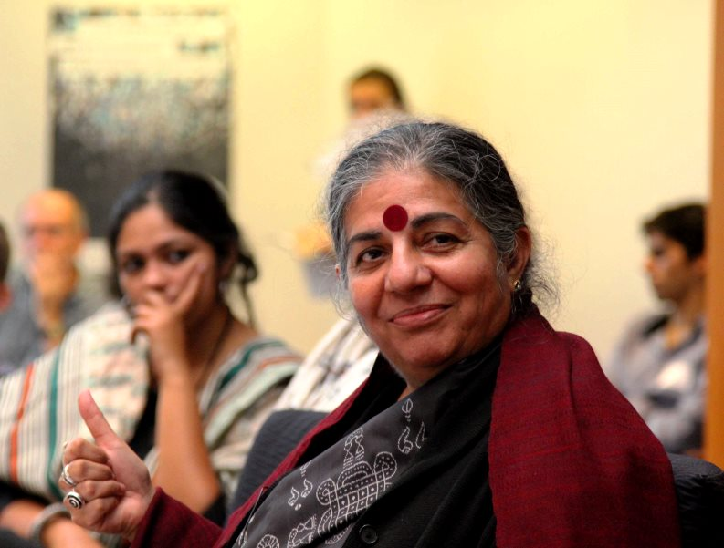 Dr Vandana Shiva in Brussels as part of a tour to promote a new campaign and booklet: 'The law of the seed'. Photo: GreensEFA via Flickr (CC BY 2.0)