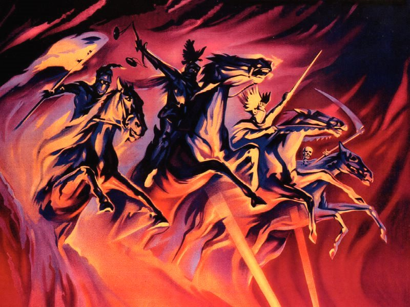 From the poster for the 1962 film 'Les Quatre Cavaliers de l'Acopalypse'. Photo: CartelesCine via Flickr (CC BY-NC-SA).