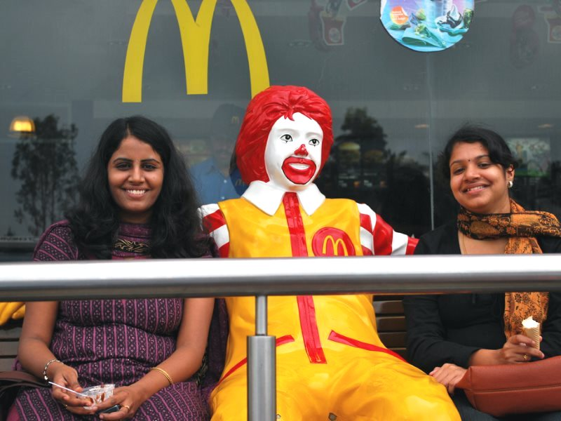 Breakfast at McDonalds in Maddur, Karnataka, India. Photo: Harsha K R via Flickr (CC BY-SA).
