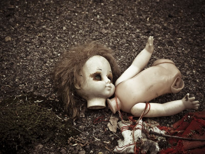 The dead have no voice: doll at Pripyat, near Chernobyl. Photo: Ben Fairless via Flickr (CC BY-NC-SA).