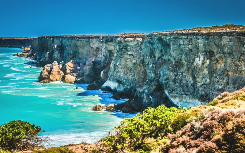 The famous Bunda Cliffs overlooking the Great Australian Bight. Photo: Matt Turner.