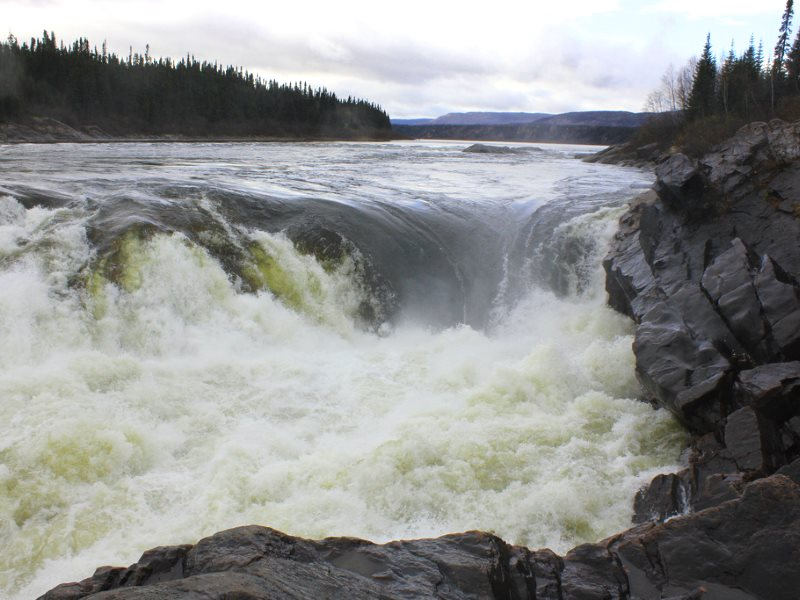 Muskrat Falls on 23rd October 2011, before dam construction commenced. Photo: innovationtrail via Flickr (CC BY-NC).