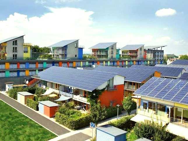 A shining example of community renewables - the 'Solar Settlement' in Freiburg, Germany.  Photo: deedavee easyflow via Flickr (CC BY-SA).