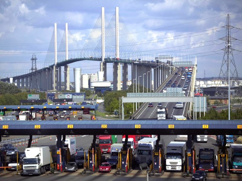 Officially designated as a 'rural road': the M25 Dartford Crossing on the QE2 Bridge. Photo: highwaysengland via Flickr (CC BY).