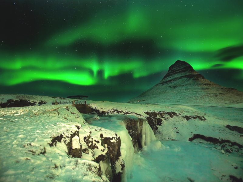 The future is hard to foretell. So instead, why not create the future you want? Photo: Aurora Borealis in Iceland by Victor Montol via Flickr (CC BY) with Kirkjufell Mountain and Kirkjufellsfoss waterfall.