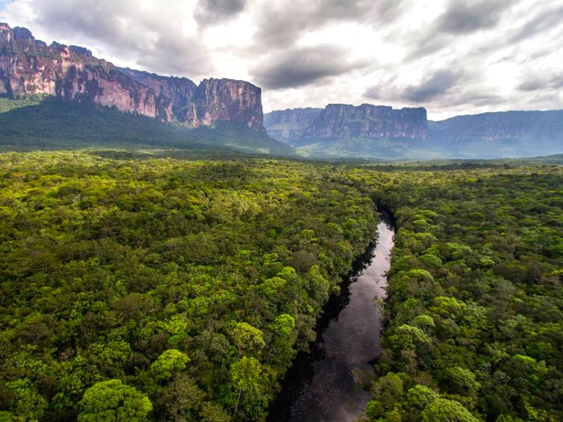 At risk: Canaima National Park in the Venezuelan Amazon headwaters. Photo: Antonio Jose Hitcher (@antoniohitcher).