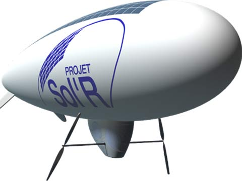 The world's first solar-powered blimp