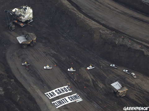 Tar sands protest in Canada