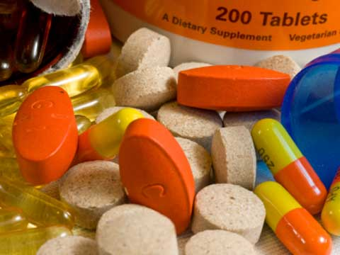 Dietary supplements in pill form