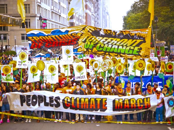 The Peoples' Climate March in New York City, 22nd September 2014. Photo: Light Brigading via Flickr (CC BY-NC 2.0).
