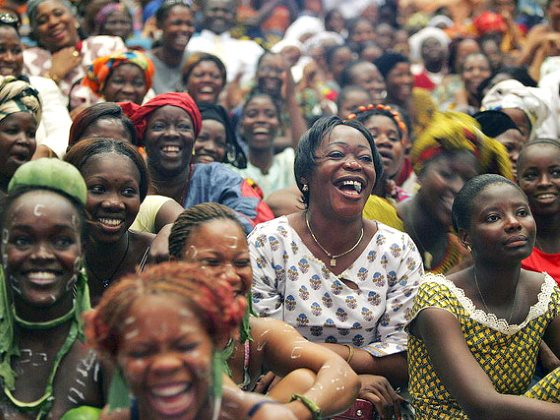 Women from all over Côte d'Ivoire gather to celebrate International Women's Day at the Palais de la Culture in Abidjan, Côte d'Ivoire. Photo: UN Photo / Ky Chung vias Flickr (CC BY-NC-ND 2.0).