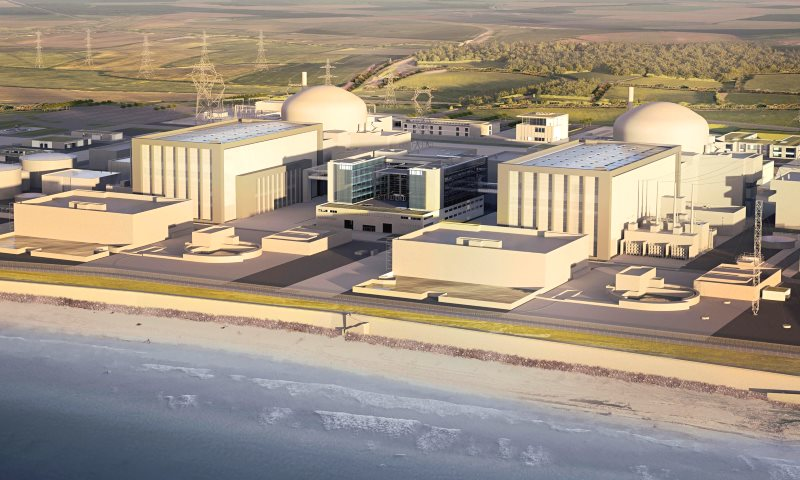 Hinkley C as it would look, if ever built: 'like building a cathedral inside a cathedral', says one nuclear engineer. Artwork: EDF.