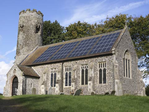 Church with solar roof