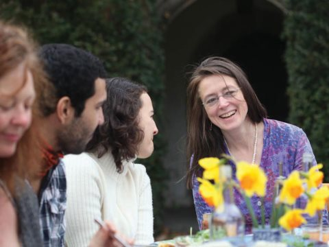 Spring Feast, with Julia Ponsonby (right). Photo: Joanna Brown.