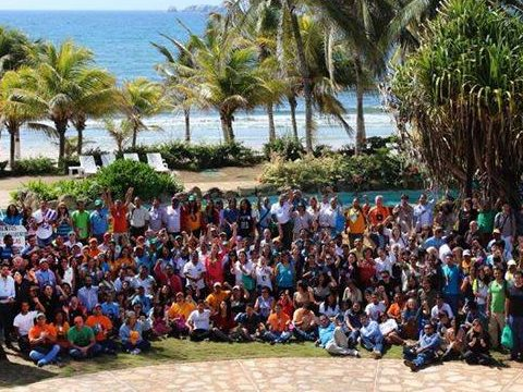 Group photo of delegates to the Isla Margarita Social Pre-COP. Photo: via facebook.com/socialprecop.