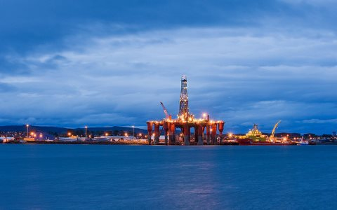 Paid for by taxpayers? Oil rigs moored in Cromarty Firth. Invergordon, Scotland, UK. Photo: Berardo62 via Flickr.