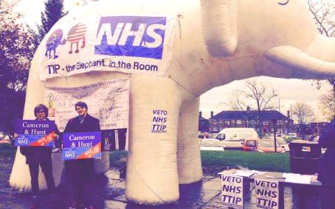 TTIP - the elephant in the room. Photo: People's NHS.