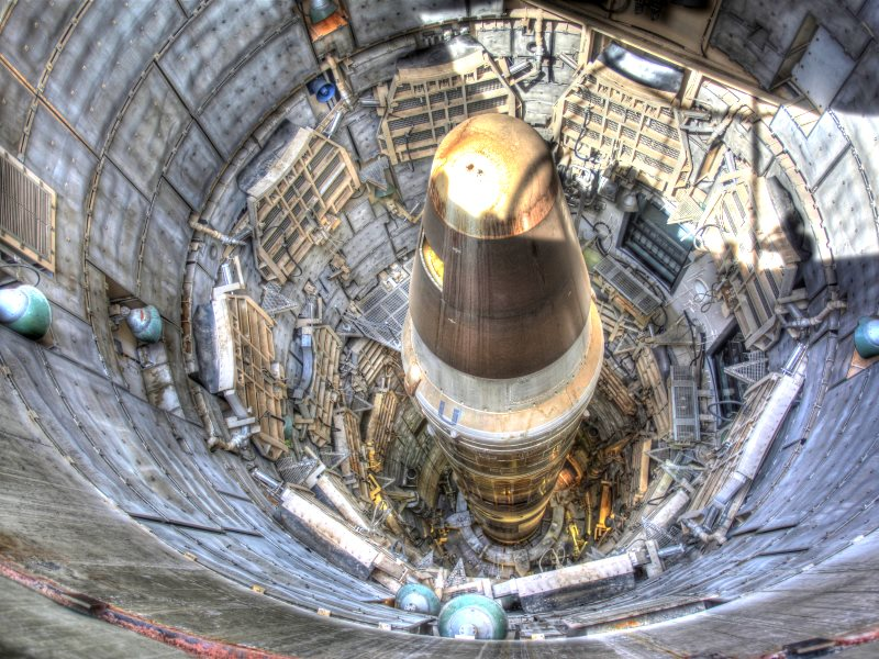 Titan II ICBM in an underground missile silo complex in Arizona, USA. Photo: Steve Jurvetson via Flickr (CC BY).