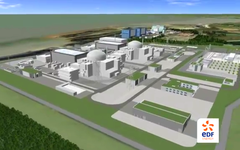Was it all a beautiful dream? View of the Hinkley Point C site as visualised by EDF.