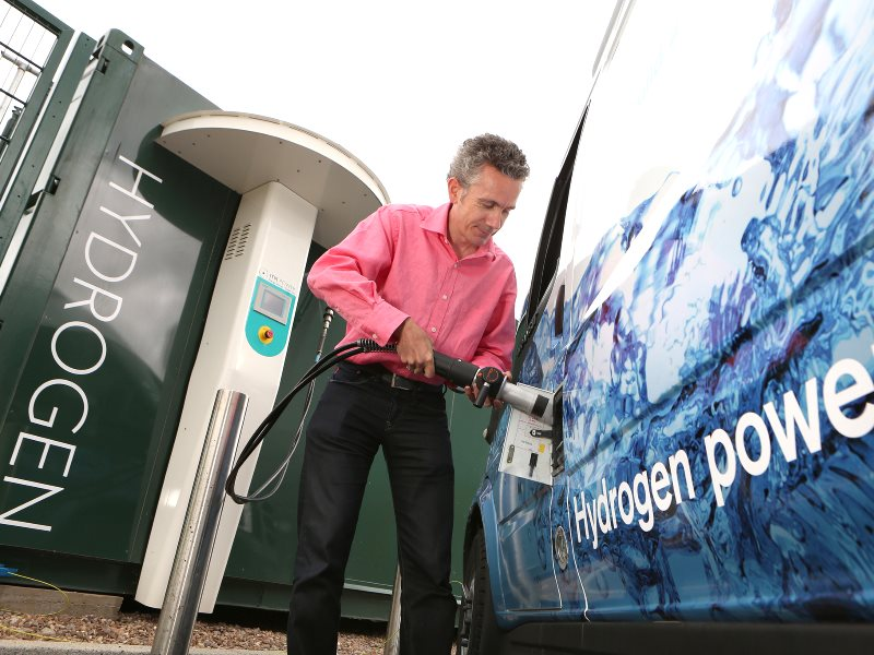 Hydrogen produced from renewable energy is already finding a market as a 'green' fuel for cars. But its future potential goes way beyond that, as a vital storage mechanism for surplus wind / solar electricity on the grid, to provide power on demand. Photo