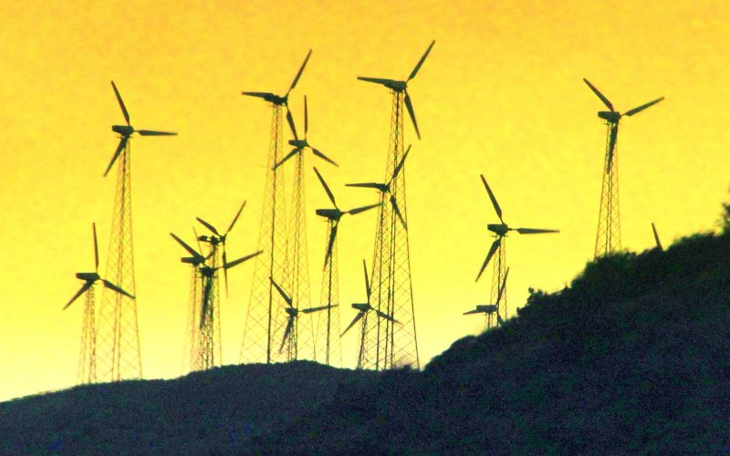 Wind farm in India. Photo: Sundaram + Annam via Flickr (CC BY-NC-SA).
