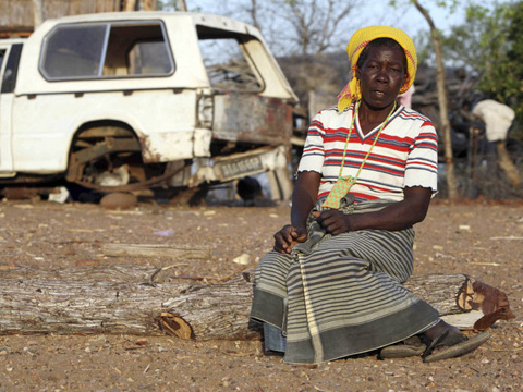 Matilde Ngovene, whose land was taken by a biofuels comapany, Mozambique
