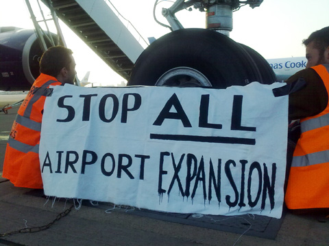Aviation protest