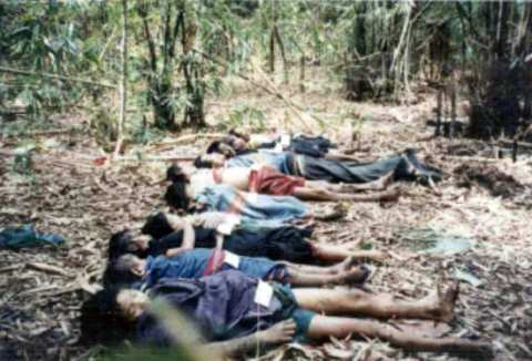 Massacre by Burmese army