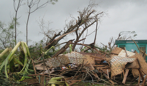 Aftermath of Typhoon Haiyan.