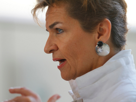 Christiana Figueres speaks. Photo: Arend Kuester / flikr.com.