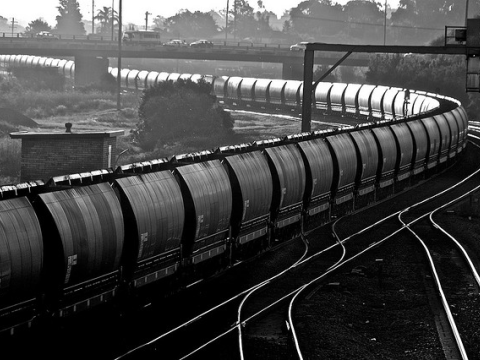 Another long empty coal train heads back to coal mines, Maitland, NSW, Australia. Photo: Nomad Tales via Flickr.com.