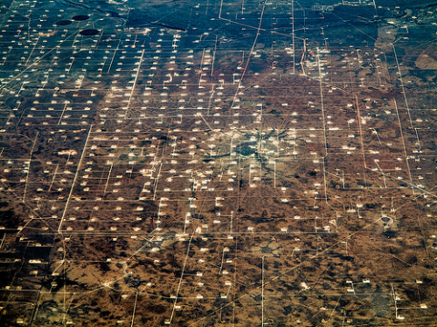 A fracked landscape South of Odessa, Texas. Photo: Dennis Dimick via Flickr.com.