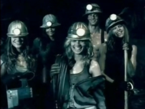 These girls like coal and they like it dirty. Still from coal industry promo featured in Dirty Business.