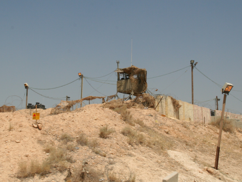 Military observation post, Jordan Valley. Photo: michael loadenthal via Flickr.com.