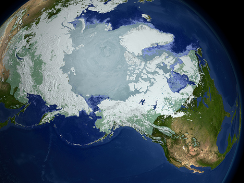 Preservation of the fragile Arctic sea ice is essential if we are to prevent abrupt climate change. Photo: NASA.