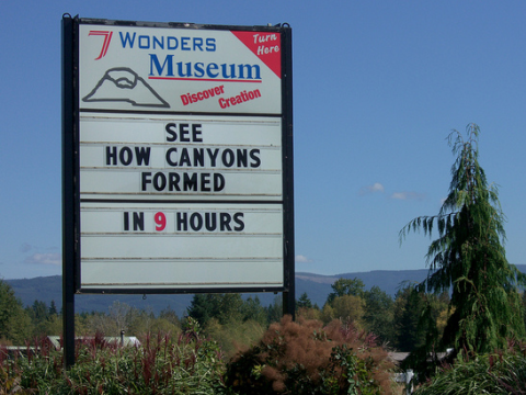The 'Seven Wonders' Creation Museum near Mount St. Helens, Oregon. Photo: hansen.berlin via Flickr.com.