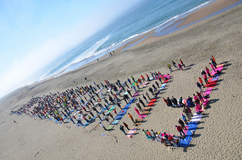 Fukushima is Here on Ocean Beach demo, San Francisco, October 2013. Photo: Steve Rhodes.