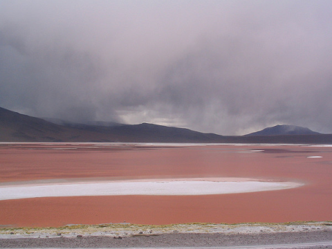 Before the rain: Laguna Colorada, Bolivia. Photo: Robin Fernandes via Flickr.com.